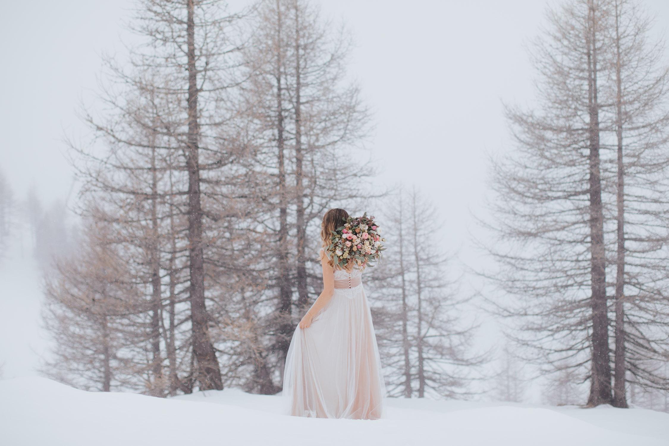 Un mariage dans la neige sur la Côte d'Azur